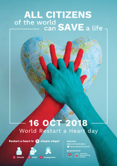 World restart a heart day Poster