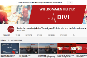 Screenshot der DIVI-YouTube-Kanals