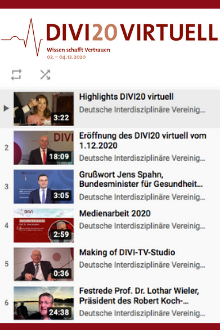 Screenshot YouTube-Liste